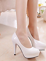 Women's Shoes Patent  Stiletto Heel Heels Pumps/Heels Office & Career/Casual Black/White/Beige