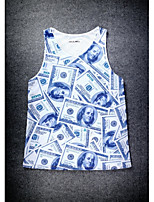 European Style Double Net Hole Vest Digital Printing 3D Sleeveless Dollar Printing Harajuku Vest