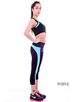 Women Cotton/Others Thin Solid Color Legging Hit The Color Stitching Back Side Of Sports And Fitness Hip Pants
