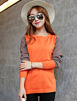 Women's Orange/Yellow Pullover , Casual/Party Long Sleeve