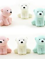 Set of 5 Polar Bear Assemble Rubber Eraser Novelty Kids Toy (Random Color)