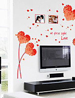 Wall Stickers Wall Decals Style Red Grass Picture Frame PVC Wall Stickers