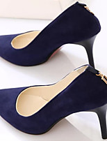 Women's Shoes Synthetic Stiletto Heel Heels Pumps/Heels Dress/Casual Black/Blue/Purple/Burgundy