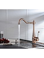 Copper Traditional Period Single Ceramic Lever Kitchen Sink Mixer Tap