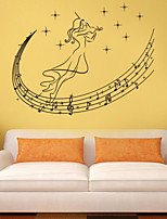 Wall Stickers Wall Decals Style Musical Spirit PVC Wall Stickers