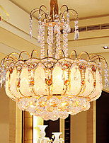 Modern LED Crystal Pendant Lights 45cm With Glass Leaves And Cristal Balls For Dining Room Lighting (952)