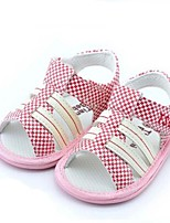 Baby Shoes Casual Fabric Sandals Pink/Taupe