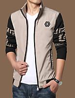 SENLEIS®Men's Casual Plus Sizes Print Long Sleeve Regular Jacket (Cotton Blend)