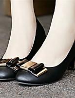 Women's Shoes  Chunky Heel Pointed Toe Pumps/Heels Dress Black/Pink