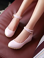 Women's Shoes  Low Heel Heels/Round Toe Pumps/Heels Office & Career/Dress Black/Blue/Pink/Beige