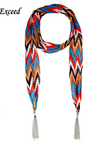 D Exceed Arrow multicolor printing Women's models bright multi-use tassel jewelry chiffon scarves