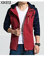 Men's Casual/Work Pure Long Sleeve Regular Jacket (Cotton)XKS7B08