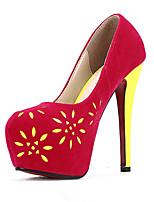 Women's Shoes Faux Leather Stiletto Heel Heels Pumps/Heels Outdoor Black