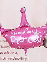 Pink and Silver Princess Crown Shape Helium Balloon for Brithday Party