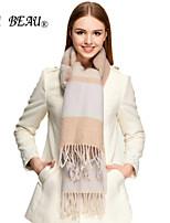 LA BEAU 3 Color Women Cashmere Warm Wool Cashmere Striped Scarf