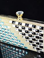 Handbag Satin/Crystal/ Rhinestone/Metal/Sparkling Glitter Evening Handbags With Crystal/ Rhinestone/Metal