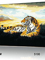 DIY Digital Oil Painting With Solid Wooden Frame Family Fun Painting All By Myself    Crouching Tiger 5100