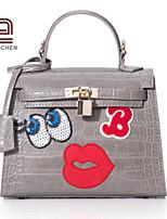 Handcee® Best Seller Cute CartoonPattern Woman PU Crocordile Vintage Tote Bag