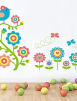 estilo decalques adesivos de parede parede colorida flor de parede do PVC adesivos