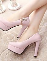 Women's Shoes Stiletto Heel Heels/Round Toe Pumps/Heels Office & Career/Dress Black/Pink/Beige
