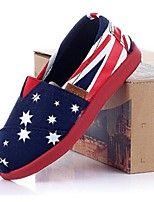 Girls' Shoes Casual Round Toe Canvas Loafers Blue/Red