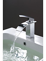 Single Handle Waterfall Lavatory Basin Sink Faucet Chrome