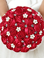 Wedding Flowers Round Roses Bouquets Wedding Satin 8.66
