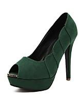 Women's Shoes Stiletto Heel Peep Toe/Platform Sandals Casual Black/Green