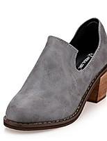 Chaussures Femme Faux Cuir Gros Talon Talons Escarpins / Talons Décontracté Noir/Gris