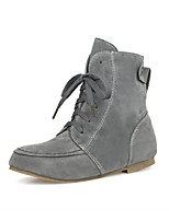 Women's Shoes Flat Heel Fashion Boots/Round Toe Boots Casual Black/Yellow/Gray/Beige
