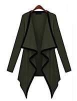 Women's Sexy Casual Cute Micro Elastic Long Sleeve Regular Shirt (Knitwear)