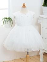 Girl's Mesh/Satin Dress , All Seasons Short Sleeve
