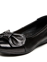 Women's Shoes Leather Flat Heel Comfort/Round Toe Loafers Outdoor/Office & Career/Casual Black/Blue