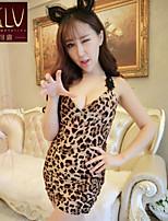 SKLV Women's Spandex Ultra Sexy/Suits Leopard Print Nightwear/Lingerie