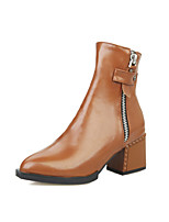Women's Shoes Chunky Heel Combat Boots/Pointed Toe Boots Office & Career/Dress/Casual Black/Brown/Burgundy