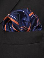 Men's Business Stripes Blue  Pocket Square