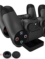 PS4 Charging Station - Dual USB Charger Dock Station for Sony Playstation 4 PS4 (Send A Pair Thumb Stick Grips Cap)