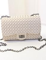 KLY ®2015 new Korean version of the small fragrant wind compiled lock chain handbag shoulder handbag