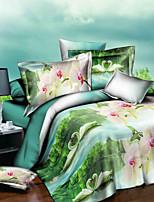 Bettbezug-Sets Grün - Polyester
