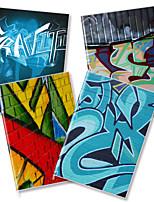 x - libro a5-96 los helados de alta calidad cuadernos de revestimiento de goma (graffiti) (4 libros por paquete) a5-96-jt-021