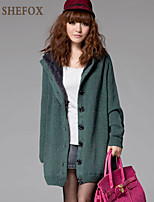 Women's Casual Stretchy Thick Long Sleeve Cardigan (Knitwear) SF7B72