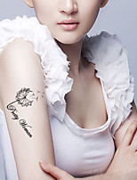 5Pcs Waterproof Black Dandelion Pattern Temporary Body Art Tattoo Sticker