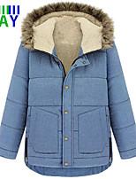 ZAY Women's Casual Fleece Lining Long Sleeve Hooded Parka