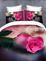 Define capa de edredão Rosa - DE Poliéster