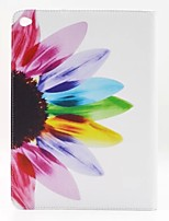 flores de girassol pu couro caso de corpo inteiro com suporte para o ar ipad Ar2 ipad