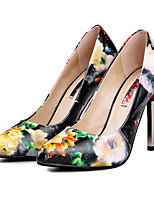 Women's Shoes Leather Stiletto Heel Heels/Pointed Toe/Closed Toe Pumps/Heels Outdoor/Party & Evening/Casual Multi-color