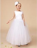 Flower Girl šaty - Satén/Tyl Bez rukávů - Plesové šaty Na podlahu