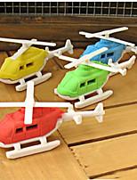 Set of 5 Lovely Helicopter Detachable Rubber Eraser Novelty Kids Toy Gift (Random Color)