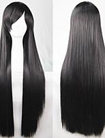 nouvelle cosplay anime longue ligne droite 80cm perruque de cheveux noirs