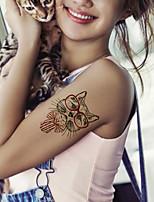 5Pcs Waterproof Luminous Cat Pattern Temporary Body Art Tattoo Sticker